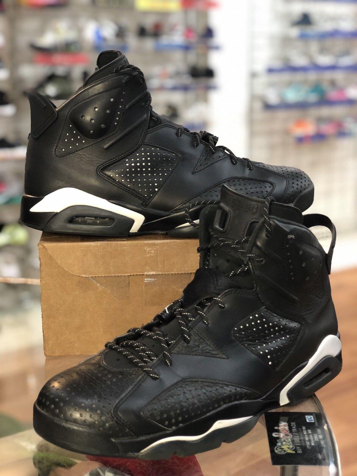 f43591ba333a57 Nike Air Jordan Retro VI 6 Black Cat 384664-020 Mens Mens Mens size ...