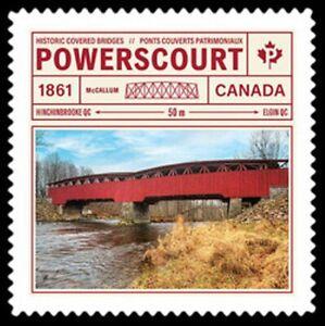 2019-Canada-POWERSCOURT-HISTORIC-COVERED-BRIDGE-New-2019-Die-Cut-Issue