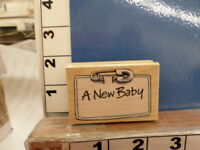 Penny Black A Baby Diaper Pen Saying Rubber Stamp 34p