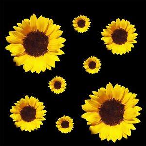 Sunflower-Set-of-8-Quality-vinyl-stickers-car-sticker-decal-flower