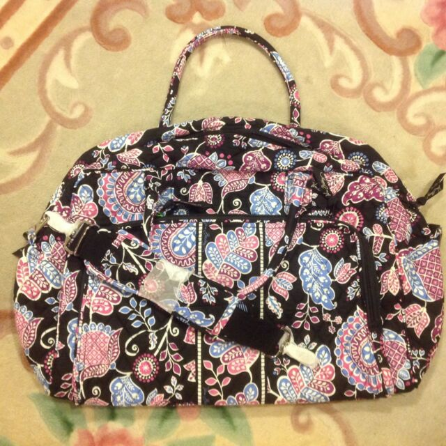 Vera Bradley Quilted Weekender Travel Bag Alpine Floral for sale ... 1aa85960ce46b