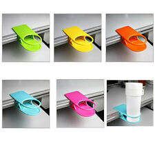 Creative Drink Cup Coffee Holder Clip Lap Home Office Kitchen Desk Table Gadget#