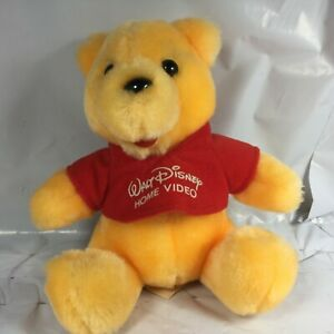Rare-Vintage-VHS-Walt-Disney-HOME-VIDEO-Promo-6-034-Sitting-Winnie-the-Pooh-Plush