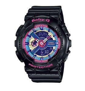 Casio Baby-G * BA112-1A Anadigi Neon Color Dial Gloss Black COD PayPal