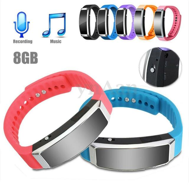 8GB Digital SPY Voice Recorder USB Dictaphone Pen MP3 Player Wristband Bracelet