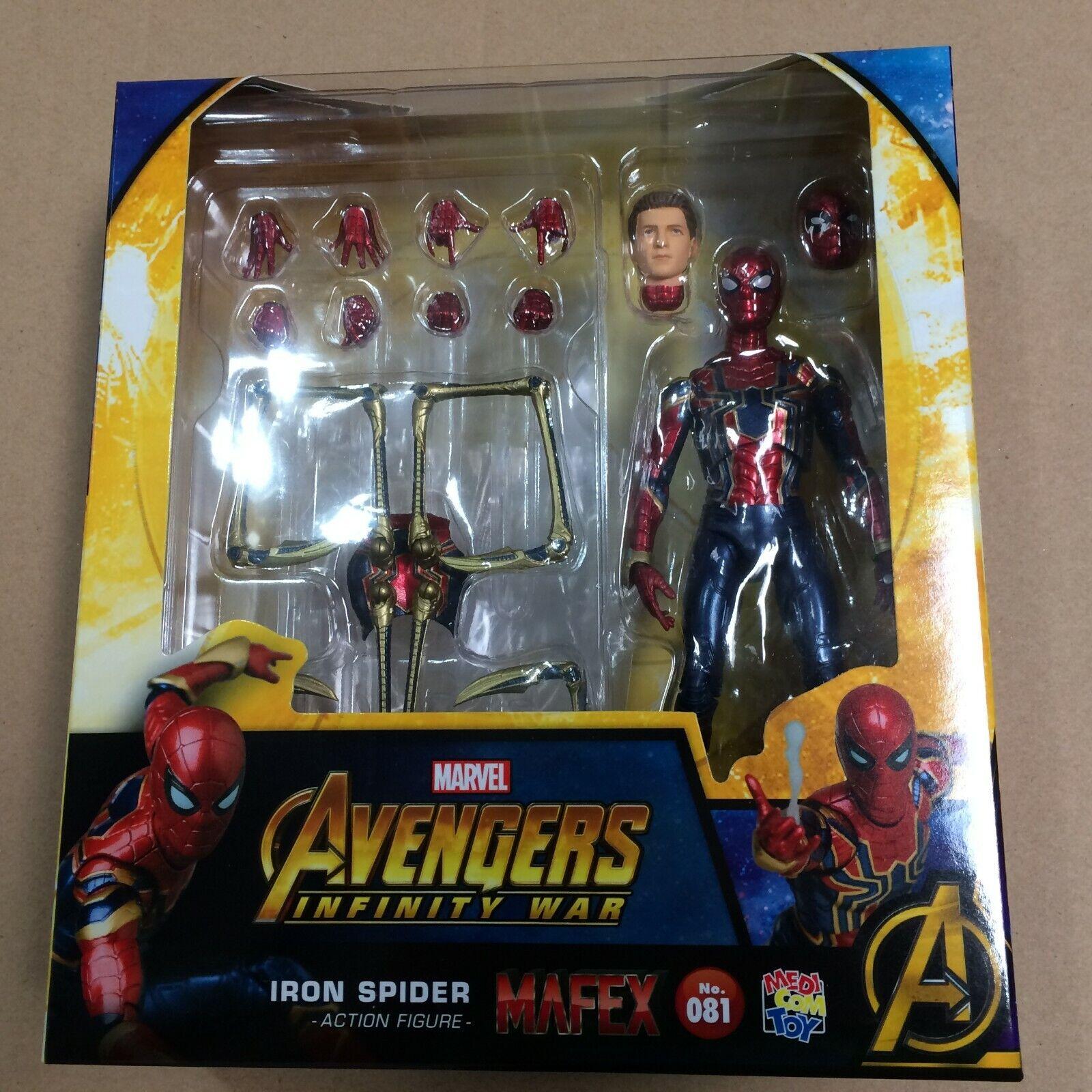 Medicom MAFEX No. 81 IRON SPIDER Spider-Man Infinity War Far From HOME US SELLER