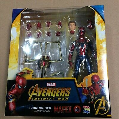 81 IRON SPIDER Spider-Man Infinity War Far From HOME US SELLER Medicom MAFEX No