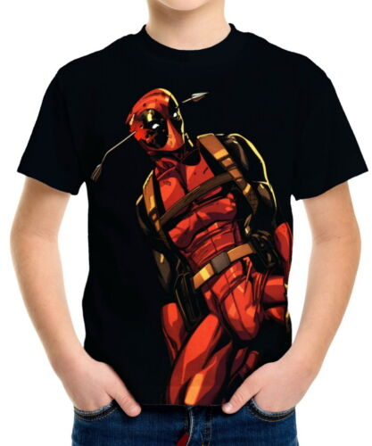 Deadpool Boys Kid Youth T-Shirts Tee Age 3-13 ael40680
