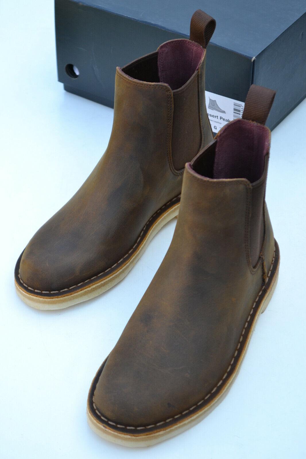 Clarks Originals BNIB Mens Chelsea Boots DESERT PEAK Beeswax UK 11 / 46