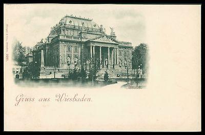 Ak Wiesbaden Gruss Aus Um Ca. 1900 Theater Alte Ansichtskarte Ct80 Exquisite Handwerkskunst;