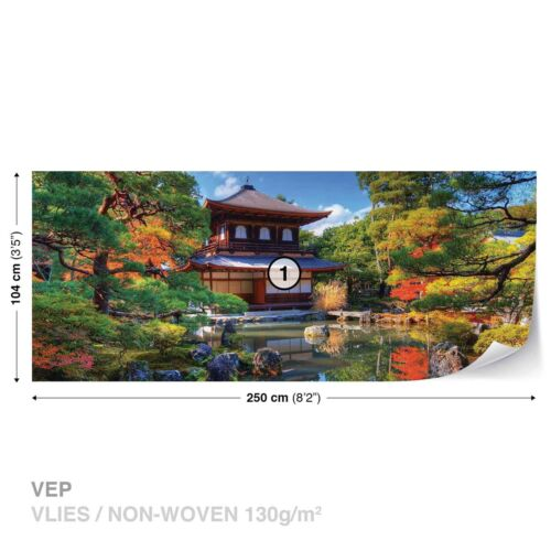 Tapete Vlies Fototapete Natur Landschaft Architektur japanisches Haus Orient