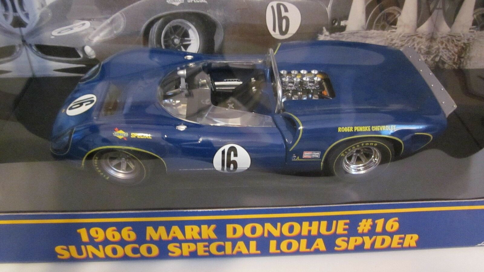 1 18 GMP 1966 Lola Spyder Mark Donohue Ltd Edition