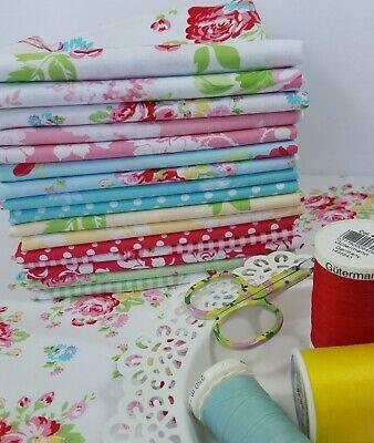 GAZEBO Tanya Whelan Shabby Chic Quilting Fabrics ~ 16 fat quarters bundle