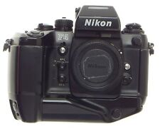 SLR F4 NIKON 35mm FILM CAMERA BODY DP 20 PRISM FINDER BATTRY GRIP NICE CONDITION