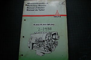 khd deutz fl 912 913 bfl diesel engine service manual repair shop rh ebay com Deutz- Allis 916H Garden Tractor Deutz 912 Parts