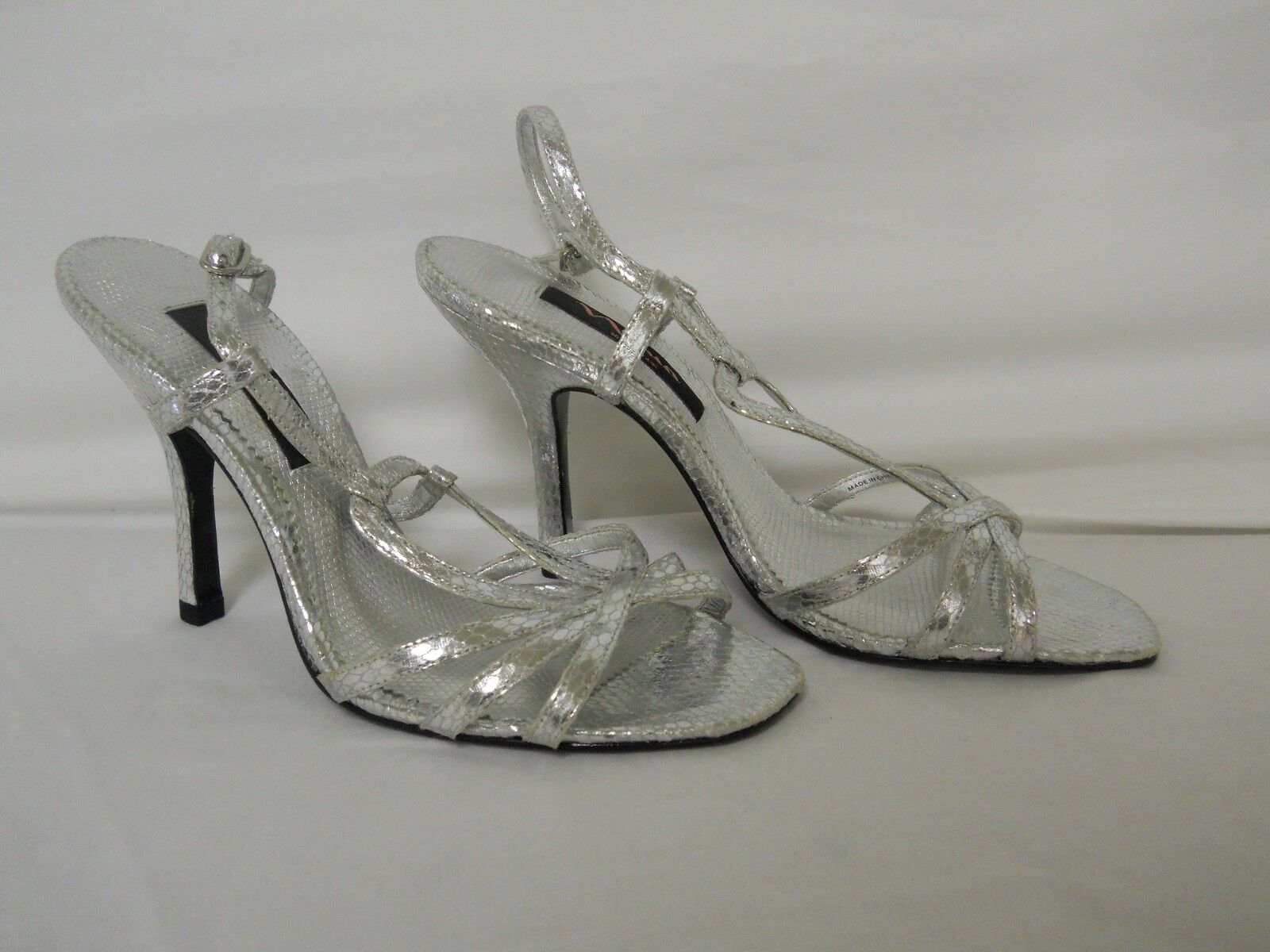 Nina New Womens Silver Sandals Sandals Sandals 6.5 M shoes 7ca9e6