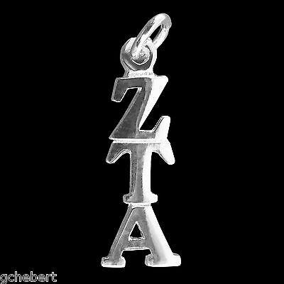Zeta Tau Alpha, Lavalier Pendant Greek Drop Letter Sterling Silver Classic