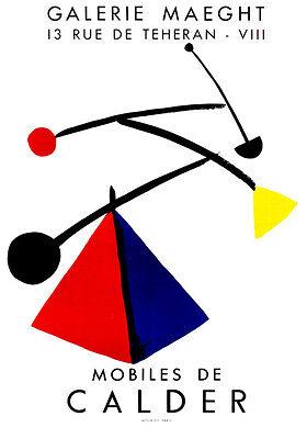 "ALEXANDER CALDER ORIGINAL LITHOGRAPH: ""MOBILES""   EXCELLENT CONDITION"