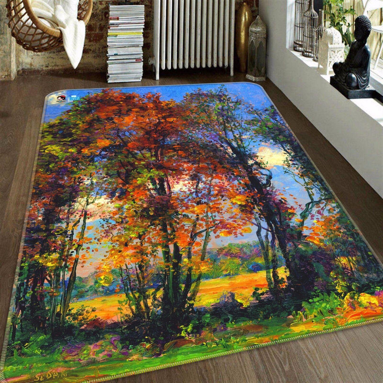 3D Trees Forest 423 Non Slip Rug Mat Room Mat Quality Elegant Photo Carpet CA