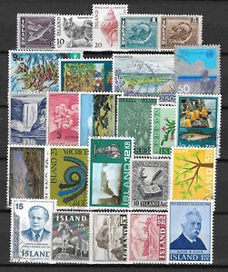 ICELAND-STAMP-COLLECTION-PACKET-of-25-DIFFERENT-Stamps