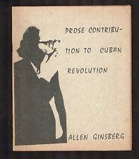 """1966 Alan Ginsberg """"Prose Contribution to Cuban Revolution"""" 1st Edition - WH"""