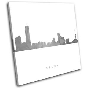 Seoul-Skyline-Geometric-Modern-City-SINGLE-CANVAS-WALL-ART-Picture-Print
