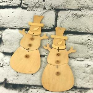 Michaels Christmas Crafts.Details About Michael S Snowman Holiday Christmas Decor Ornaments Wood Blank Painting Crafts 2