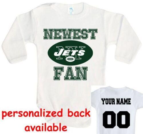 Baby bodysuit Newest fan NY New York Jets football One Piece jersey personalized