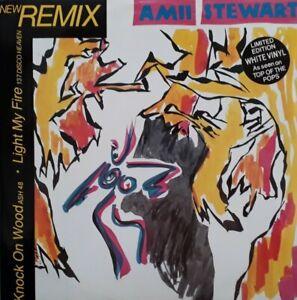 """Amii Stewart-Knock On Wood White Vinyl 12"""" Single.1985 Sedition EDITL 3303."""