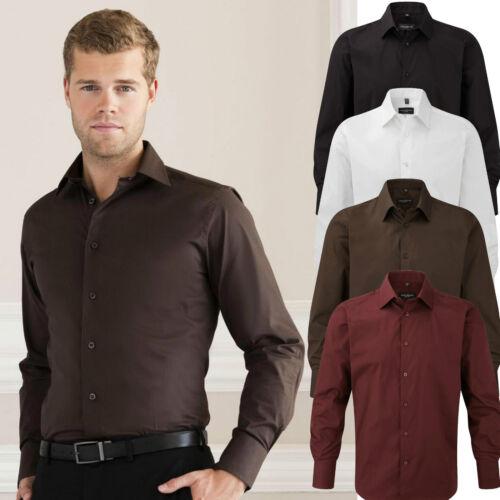 Details about  /Russell Men/'s Shirt Long Sleeve plus Size Slim Fit S M L XL XXL 3XL 4XL 37-50