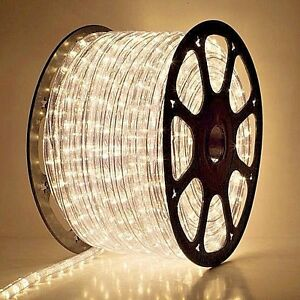Image Is Loading Clear Warm White Rope Light 150FT Spool 120V