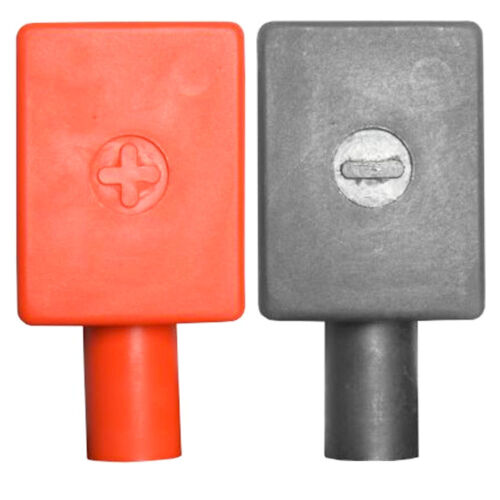 High Quality PVC Battery Terminal Covers Positive /& Negative Red /& Black