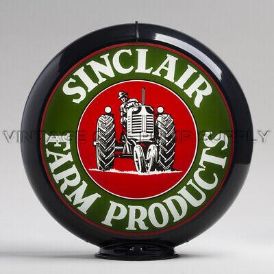 """G182 Sinclair H-C 13.5/"""" Gas Pump Globe w// Black Plastic Body"""