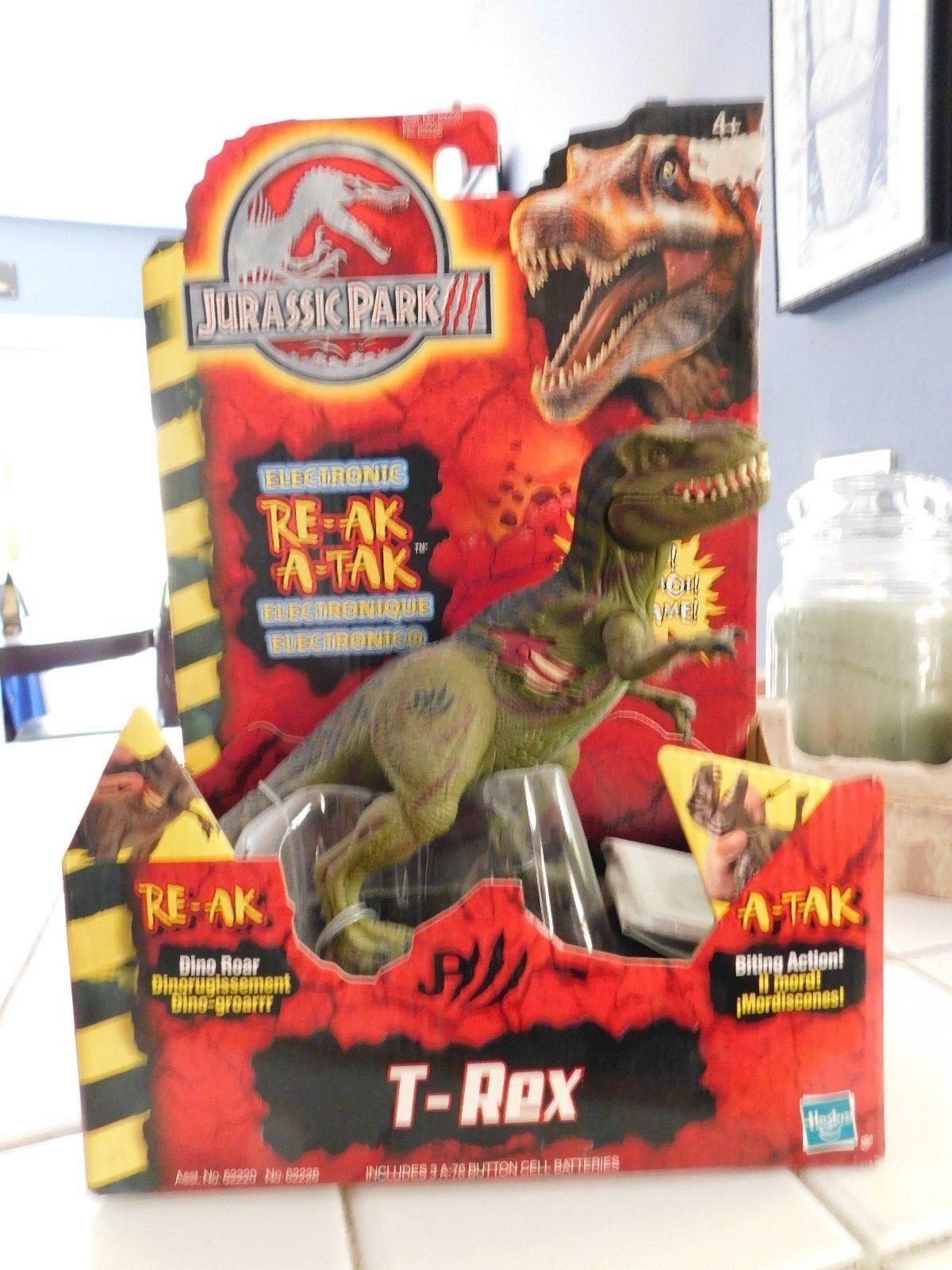 Hasbro 2000 Jurassic Park 3 Re- Ak A-Tak T-Rex  62226 Sealed Dinosaur New