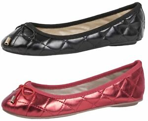 82a30354a01 Image is loading Girls-Faux-Leather-Ballet-Pumps-Flat-Kids-Party-