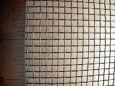 #6 - Mild Steel Woven Mesh - 3.6mm Aperture - 0.63mm Wire-A4 Sheet (210 x 300mm)