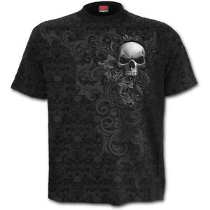SPIRAL-DIRECT-SKULL-SCROLL-T-Shirt-Gothic-Tribal-Tee-Reaper-Skulls-Death-Top