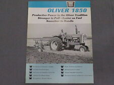 original 1965 Oliver 1850 Tractor sales Brochure Catalog