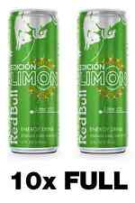 10x Red Bull Energy Drink - Edicion Limon / Lime Edition - TEN (10) 12 oz Cans