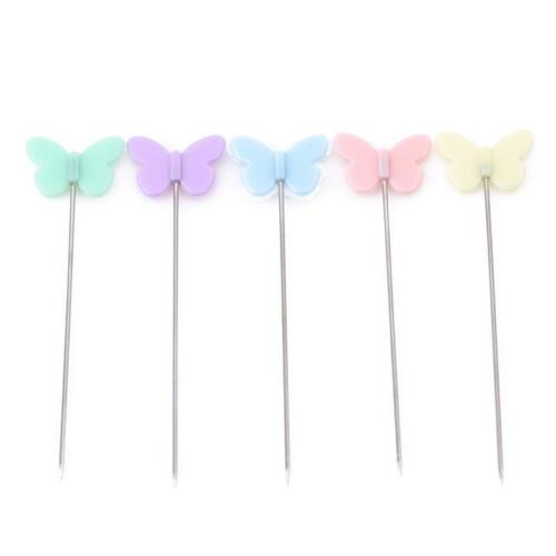 100X Patchwork Pins Flower Button Head Pins DIY Quilting Sewing Accessories DB