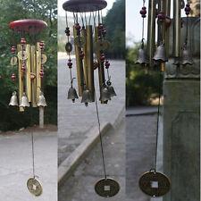 Glocke Kupfer Klangspiel Windspiel 4 Klangröhren Windharfe Gartendeko