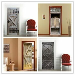 3D-Self-Adhesive-Door-Stickers-Fridge-Sticker-Wrap-Mural-Scene-Home-Decor-Decal