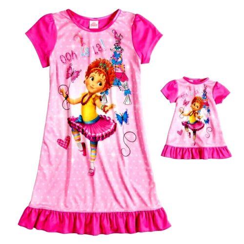 Girls Disney Sz 6 8 FANCY NANCY Nightgown W//Doll Gown PAJAMAS Girl/'s