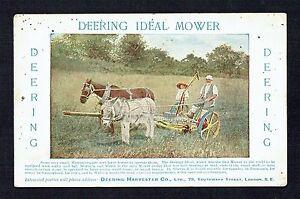 c-1905-Deering-Harvester-Co-Deering-Ideal-Mower-Advertising-Postcard-A735
