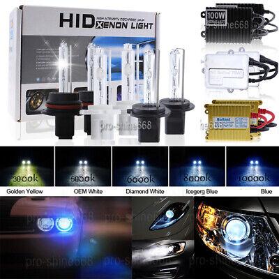 Blue XENON 55w White HID Ballasts Headlight Fog Lights KIT OEM 6000k 8000k Halo