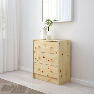 ikea rast kommode mit 3 schubladen kiefer massivholz schrank kleiderschrank neu ebay. Black Bedroom Furniture Sets. Home Design Ideas