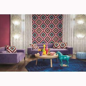Rose-Barbara-Maison-Kilim-Style-Azteque-Papier-Peint-Rasch-527445-Neuf