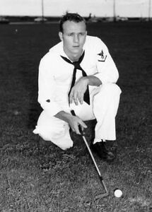 Arnold Palmer age 23 on Leave from Coast Guard to Play Golf-Pinehurst 1953-5x7