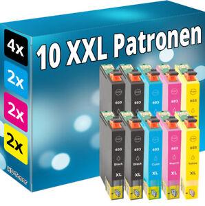 Set-10x-Tinte-Patronen-fuer-Epson-603-XL-Seestern-WorkForce-WF-2830-2835-2850-DWF