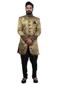 Hommes Indien Indo Western Sherwani 2pc Suit (dans Le Monde Entier Post)-afficher Le Titre D'origine